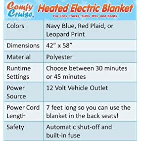 heated blanket, car blanket, auto blanket, travel blanket, B0009A2NYM, B002Y1RQDM, B007YX9OBW