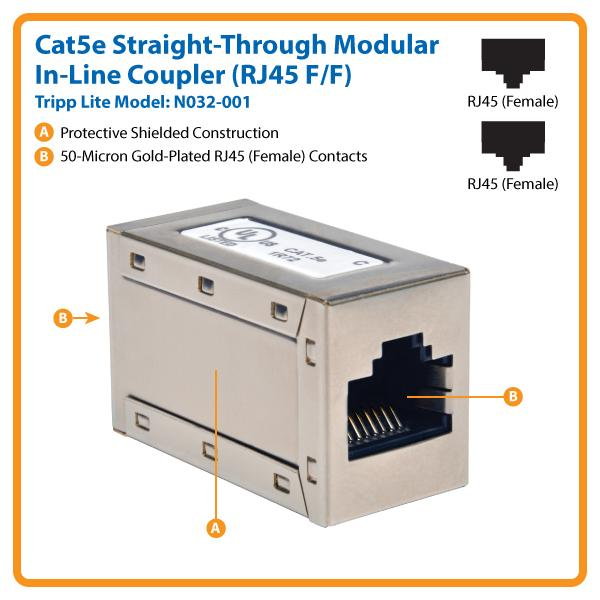 Amazon tripp lite cat5e straight through modular in line view larger asfbconference2016 Choice Image