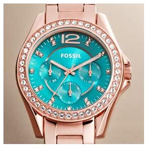 Fossil Women's ES3203 Riley Multifunction Gold-Tone Stainless Steel