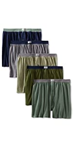 Covered waistband, knit boxer, boxer
