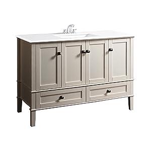 bath vanity with white quartz marble top soft white bathroom