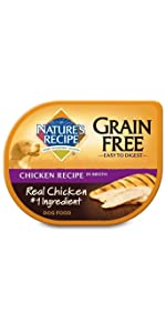 grain free wet dog food with chicken