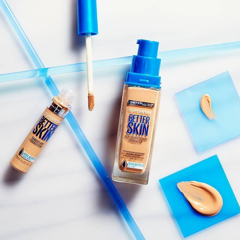 maybelline superstay better skin foundation sand