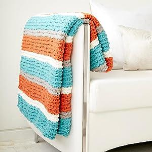 Bernat Get Fresh Throw;handmade blanet;Bernat Blanket Yarn