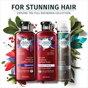 Herbal essences, shampoo, color-free, paraben-free, gluten-free, volumizing shampoo, thin hair