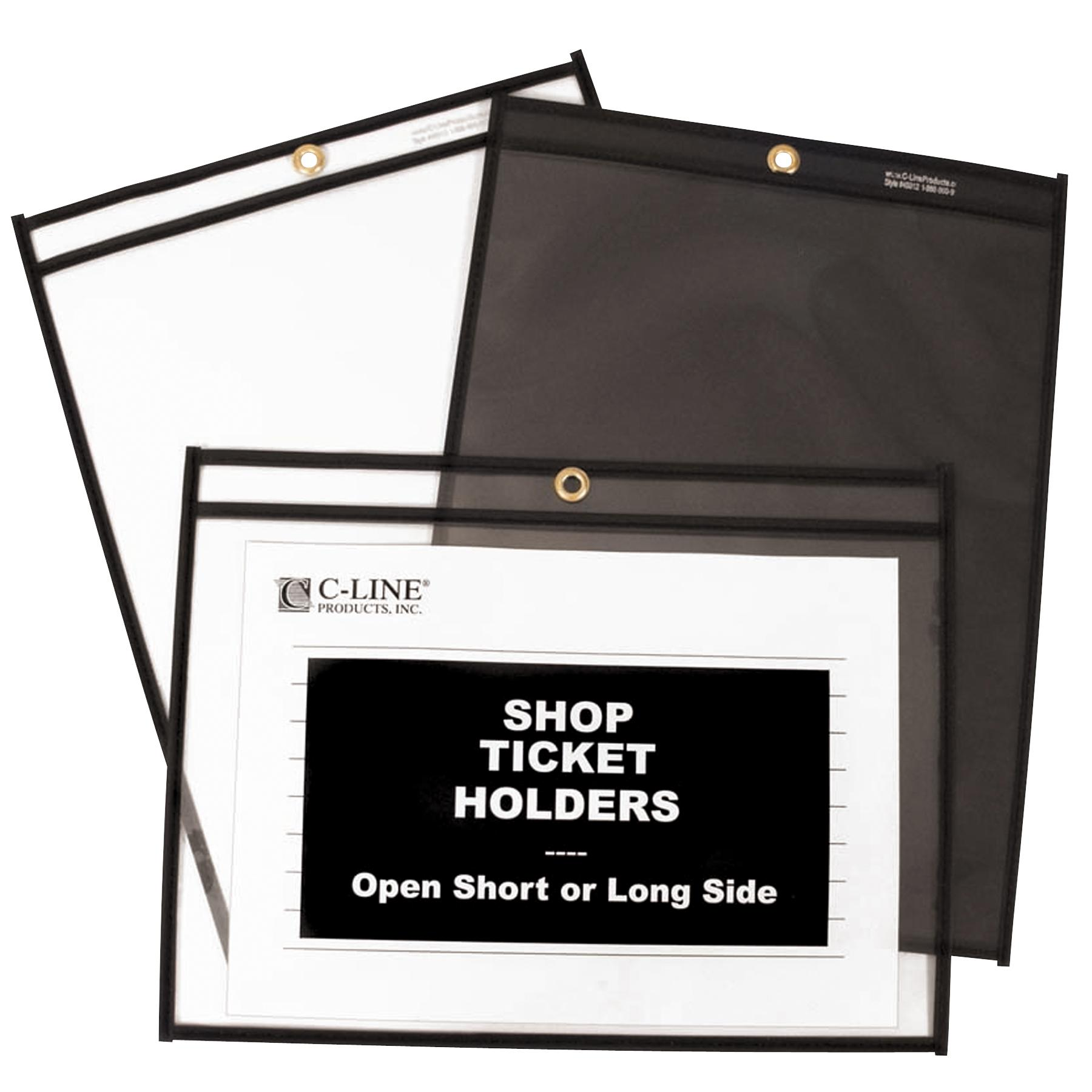 c line stitched dual pocket shop ticket holder with hanging strap both sides 38944389127 ebay. Black Bedroom Furniture Sets. Home Design Ideas