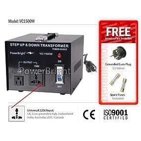 1500W Step UP / DOWN Voltage Transformer