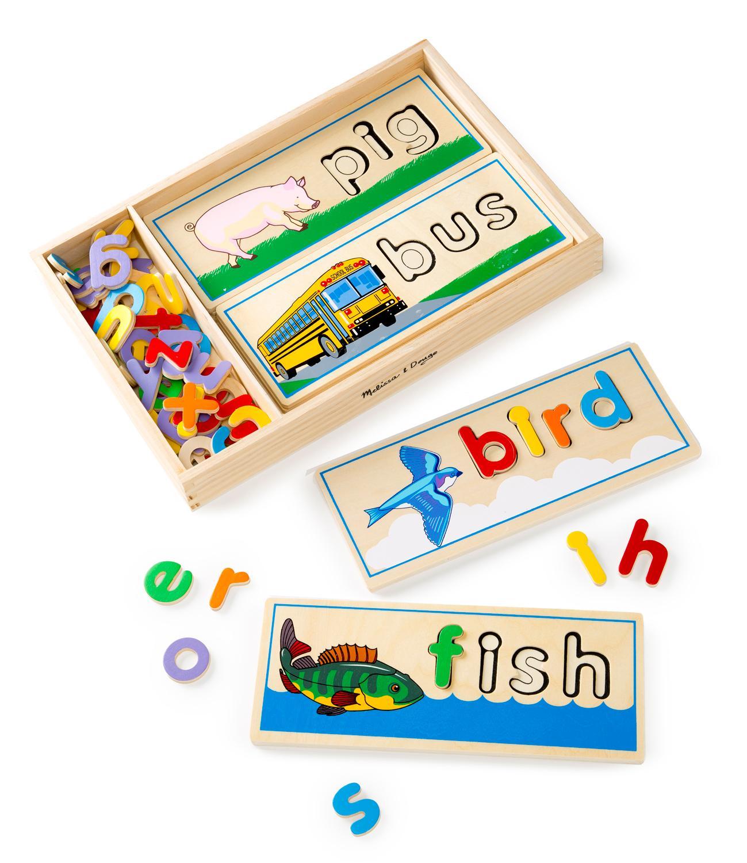 Melissa And Doug Educational Toys : Amazon melissa doug see spell wooden educational