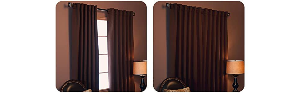 Best Home Fashion Thermal Insulated Blackout Curtain BackTab/ Rod Pocket - Black s