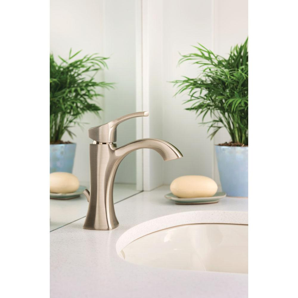 Moen 6903ORB Voss One-Handle High-Arc Bathroom Faucet with Drain ...