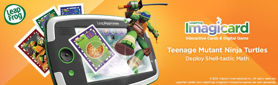 NEW LeapFrog Imagicard Teenage Mutant Ninja Turtles MATH Learning Game LeapPad