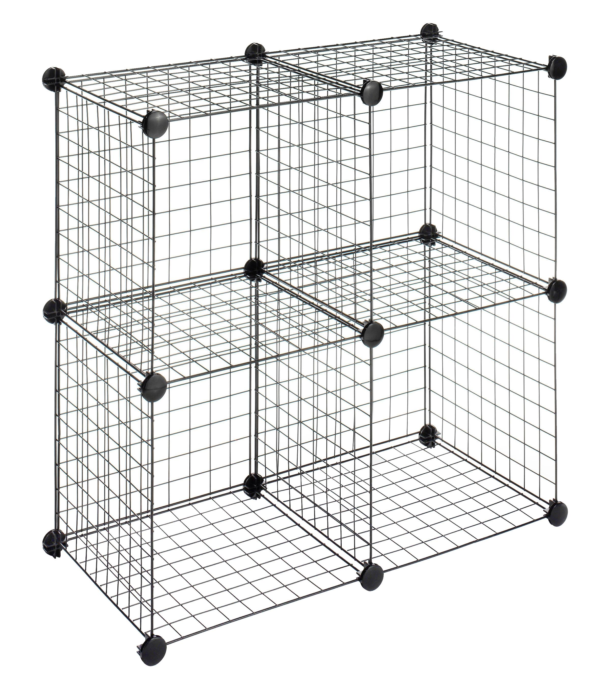 Amazon.com - Whitmor Storage Cubes S/4, Black Wire - Closet Shelves