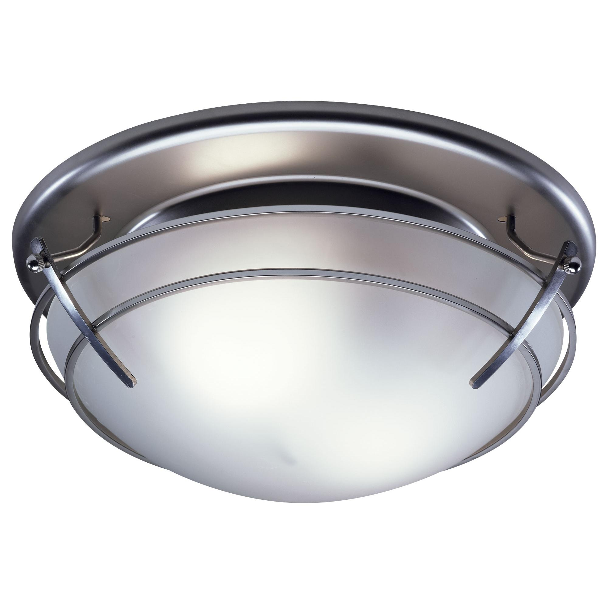 Broan 757sn decorative ventilation fan and light 80 cfm 25 sones broan 757sn decorative fanlight with glass globe 80 cfm satin nickel aloadofball Choice Image