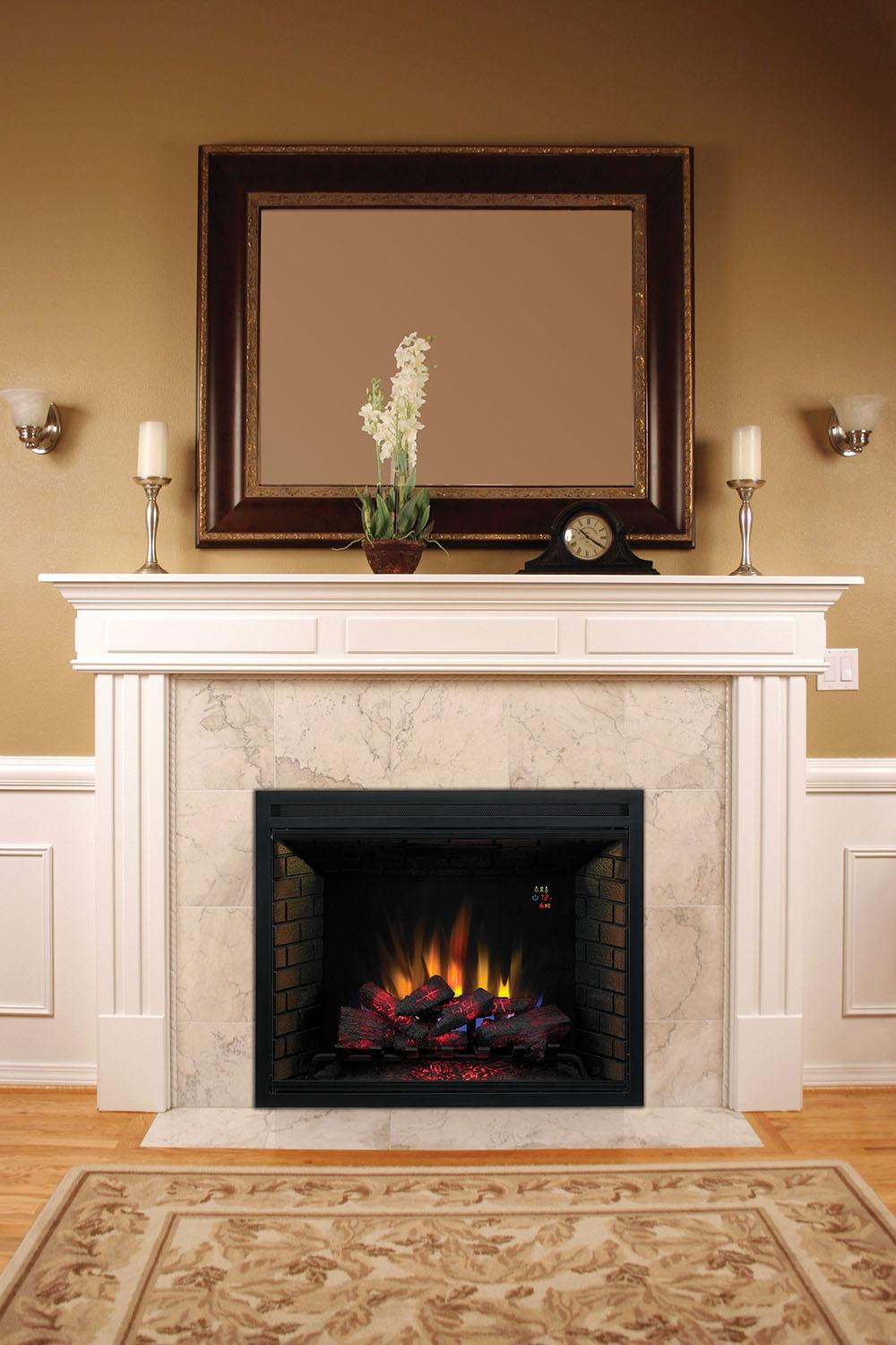 "Amazon.com: ClassicFlame 39EB500GRA 39"" Traditional Built-in Electric Fireplace Insert"