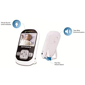 """Motorola Wireless 2.4 GHz Video Baby Monitor with 2.4"""" Color LCD Screen, Infrared Night Vision and R"""