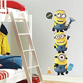 Despicable Me wall decals, Despicable Me wall stickers, minions wall decals, minions wall stickers