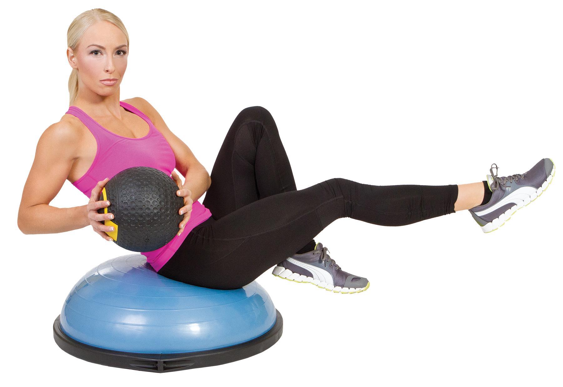 Amazon.com : Bosu Balance Trainer, 65cm - Blue : Exercise