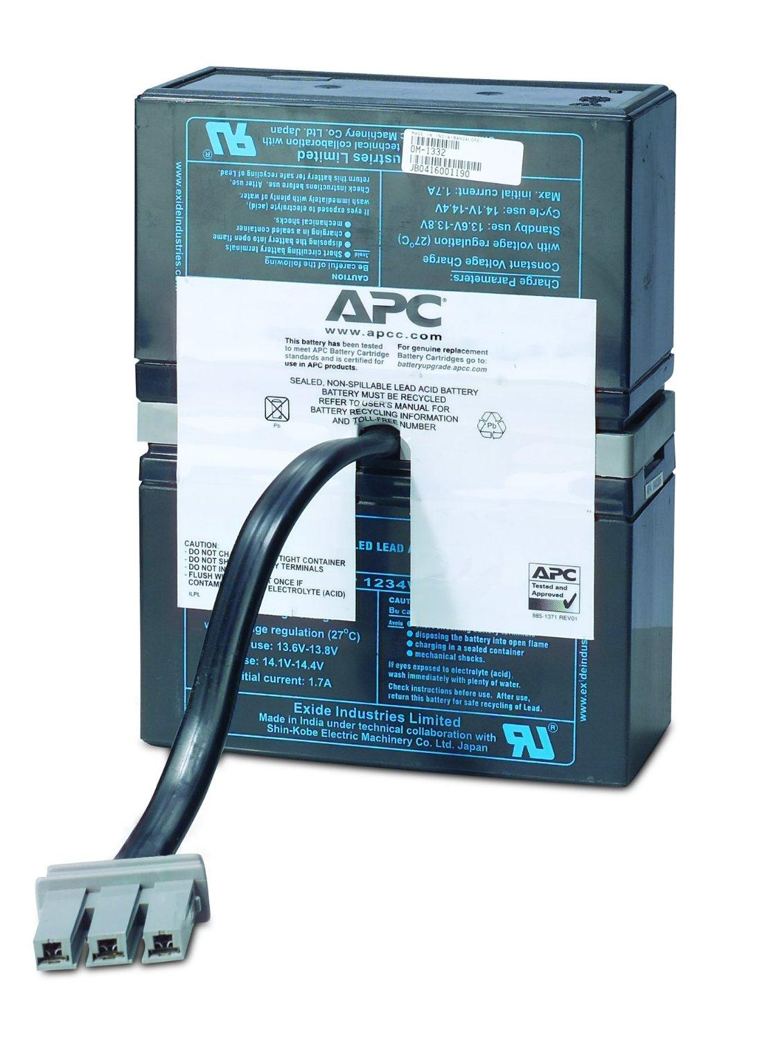 amazon com apc ups replacement battery cartridge for ups models rh amazon com Apc 1500 Battery Backup Manual Apc Smart-UPS 1500 Battery