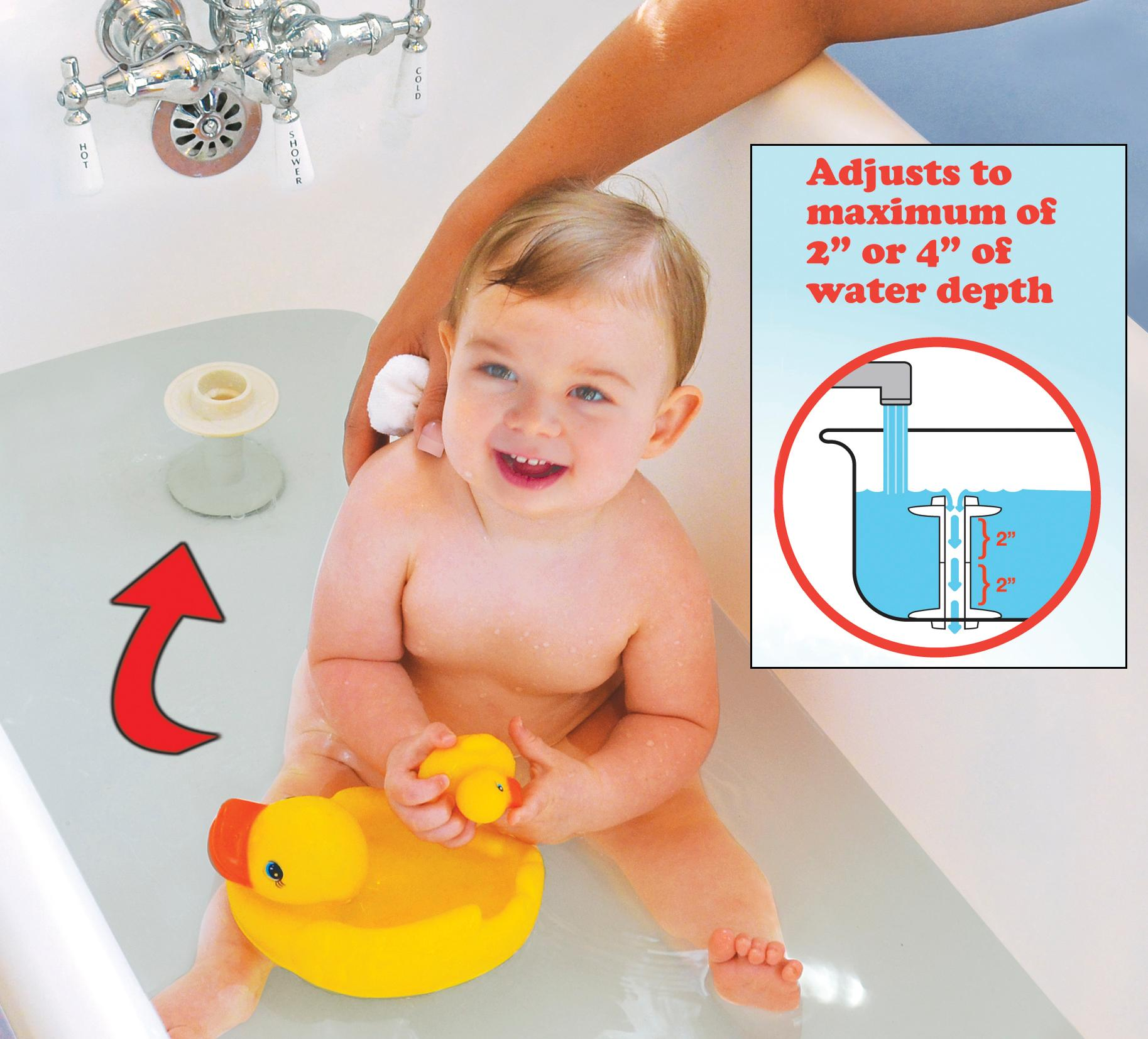 Amazon.com : Primo Just Right Bath Water Level, White : Baby
