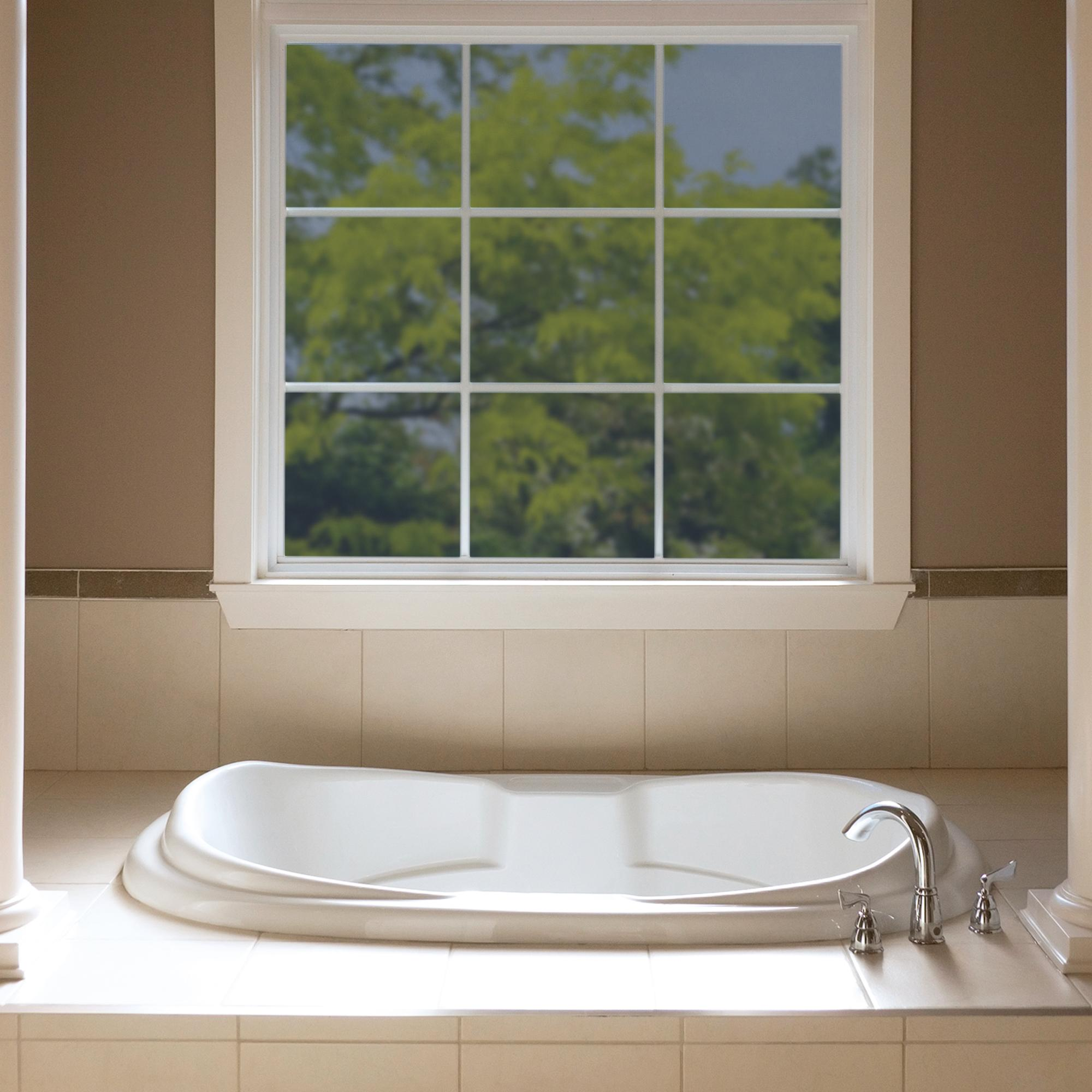 Bathroom window glass block