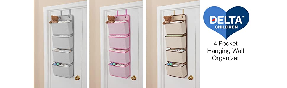 Delightful Nursery, Storage, Over, The, Door, Hanging, Organizer, Space,