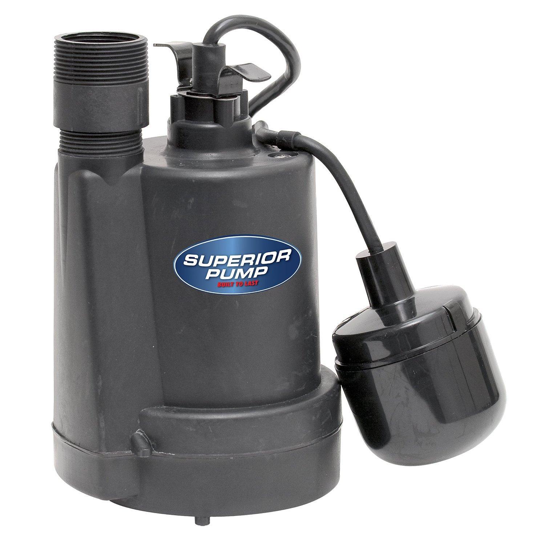 Superior Pump 92250 1/4-Horsepower Thermoplastic Sump Pump