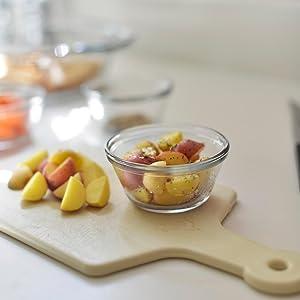 anchor hocking; custard cups; glass; prep; pinch bowl; mini; baking; storage; food prep