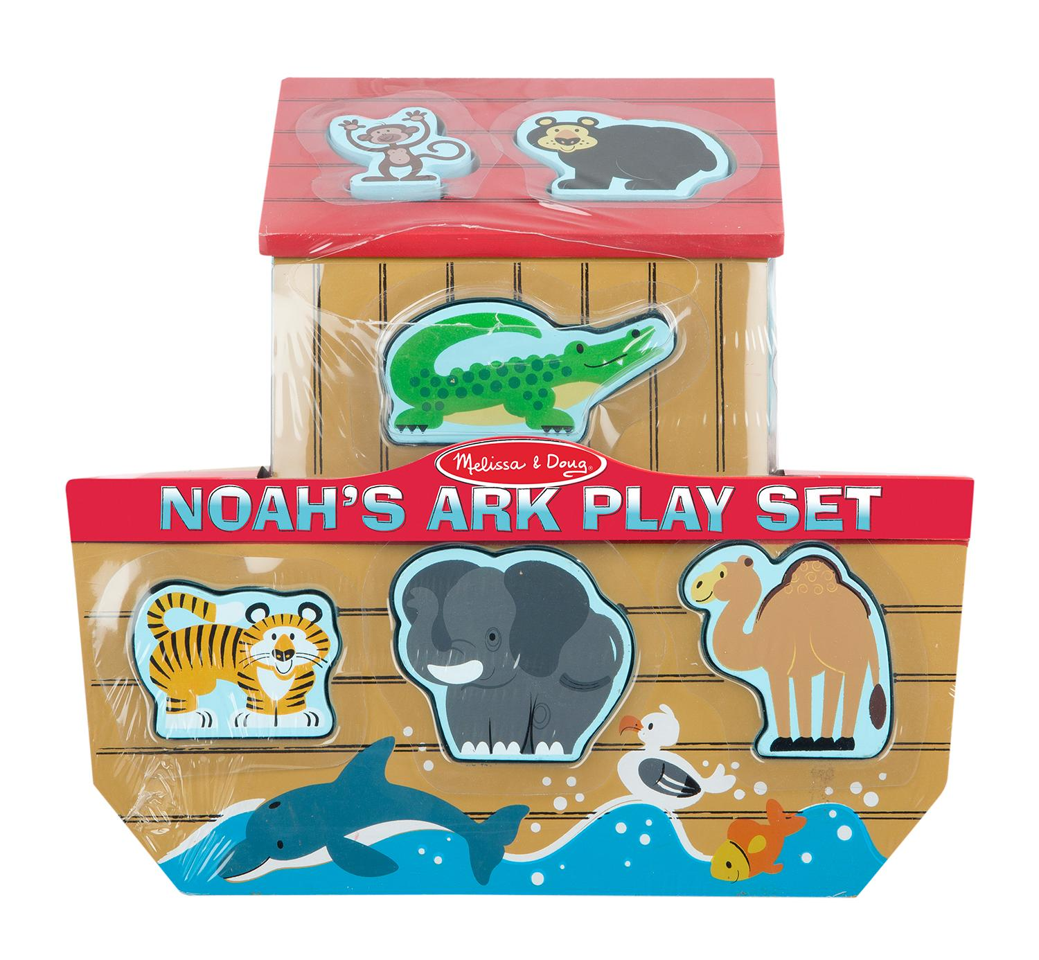 amazon com melissa u0026 doug noah u0027s ark wooden shape sorter