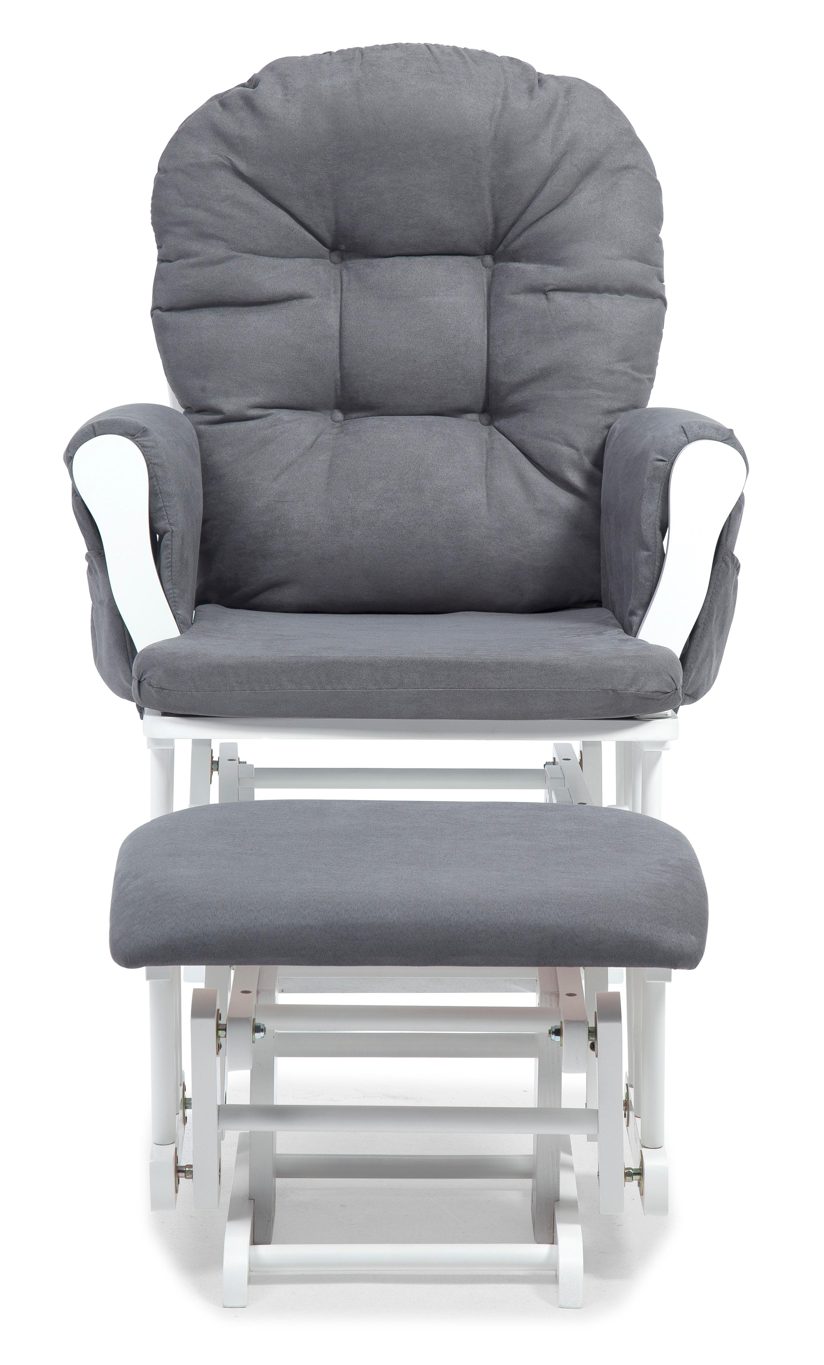 Stork craft hoop glider and ottoman - View Larger