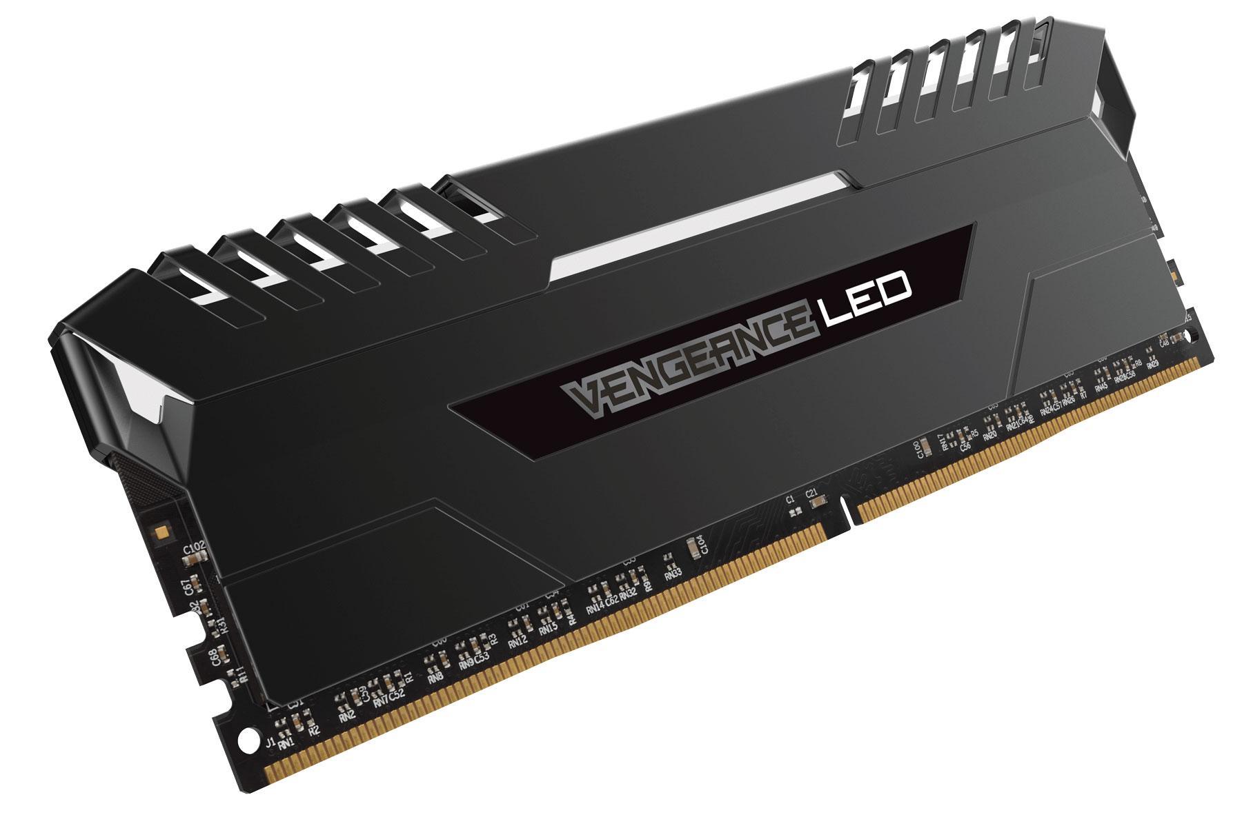 Corsair Vengeance 16GB 2x8GB DDR4 3200 PC4 25600 C16 for Intel 100, White  LED CMU16GX4M2C3200C