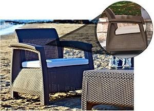 Keter Corfu Patio furniture is design with ergonomic comfort