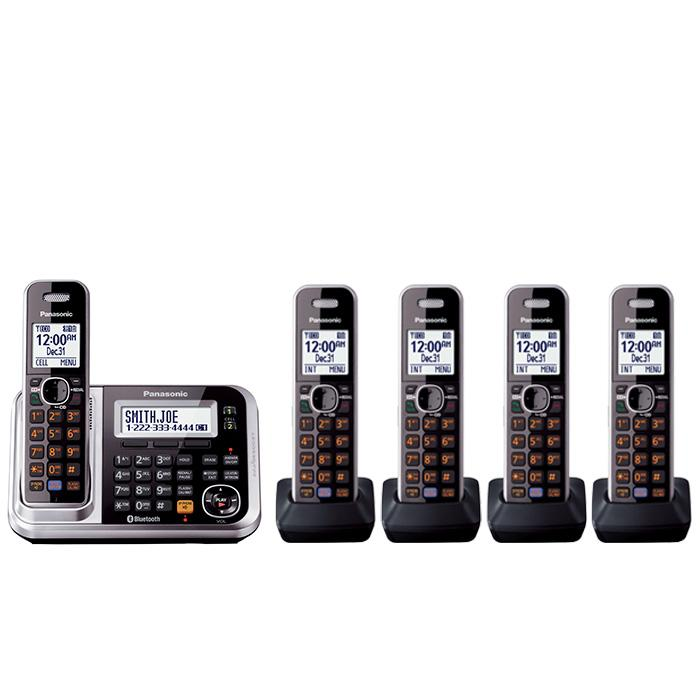 panasonic kx tg7875s link2cell bluetooth cordless phone with enhanced noise. Black Bedroom Furniture Sets. Home Design Ideas