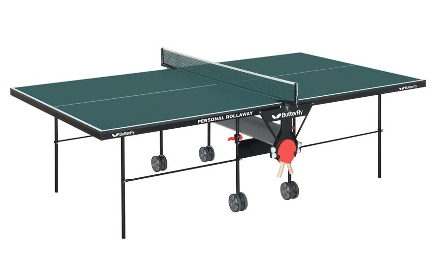 Butterfly tr21 personal rollaway table tennis table green pi - Table ping pong prix ...