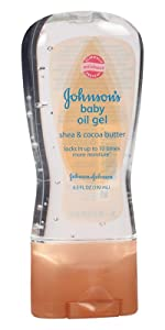 JOHNSON'S baby oil gel with shea & cocoa butter