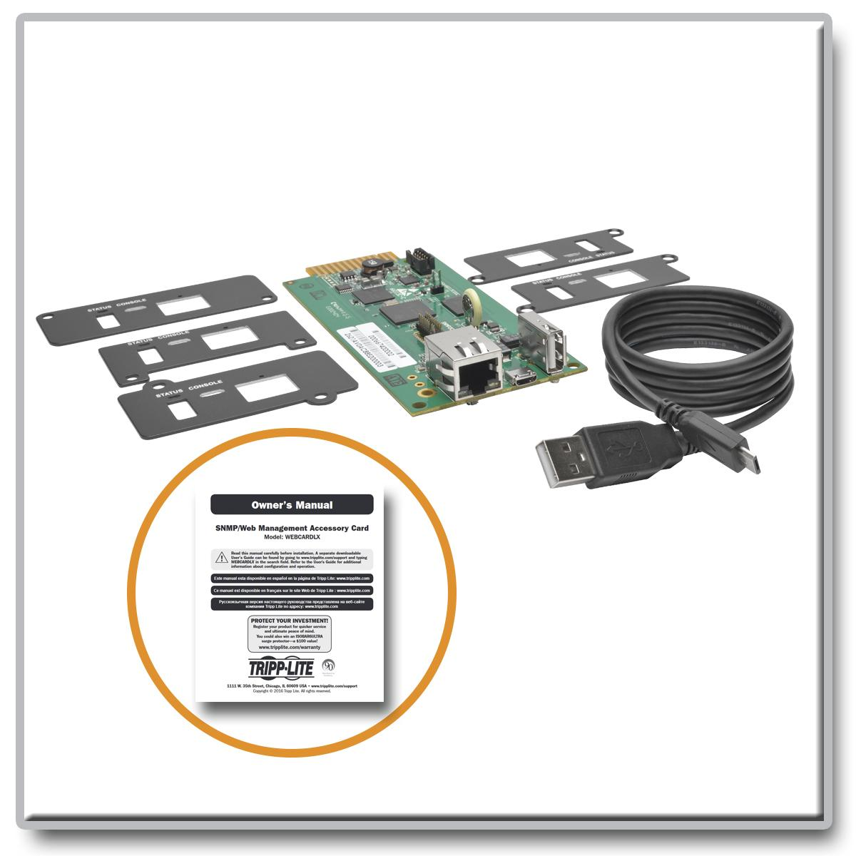Tripp Lite UPS Web Management Accessory Card, Remote Monitoring, SNMP