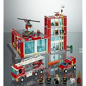 Amazon Com Lego City Fire Station 60004 Toys Amp Games