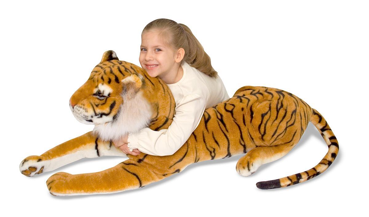 Amazon.com: Melissa & Doug Giant Tiger - Lifelike Stuffed Animal ...