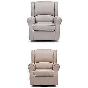 morgan, glider, rocker, nursery, furniture, comfy, upholstered, plush, microfiber, grey, tan