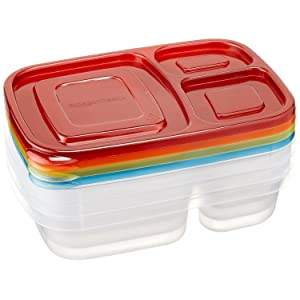 AmazonBasics Bento Lunch Box, Set of 4