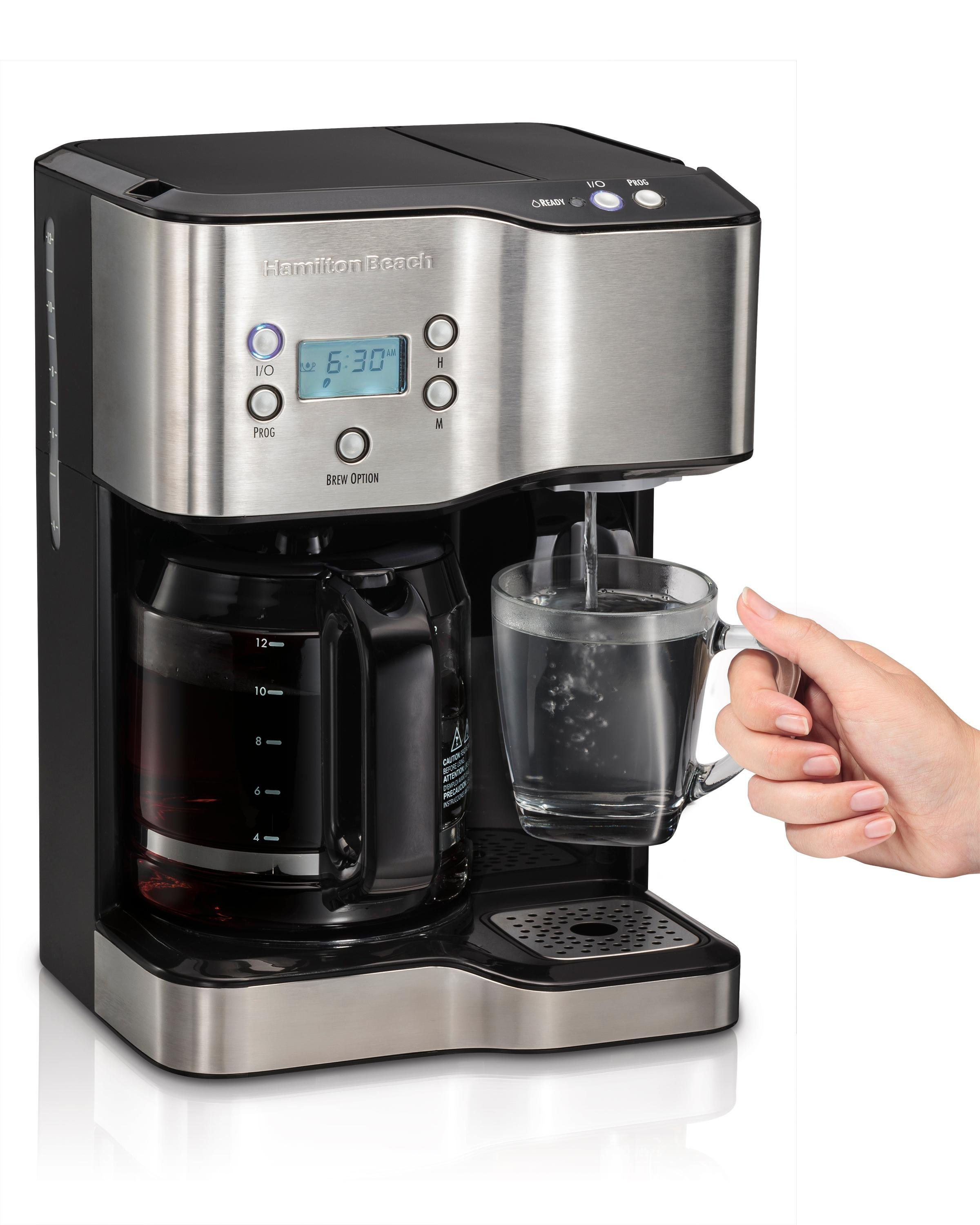 how to clean hamilton beach coffee maker