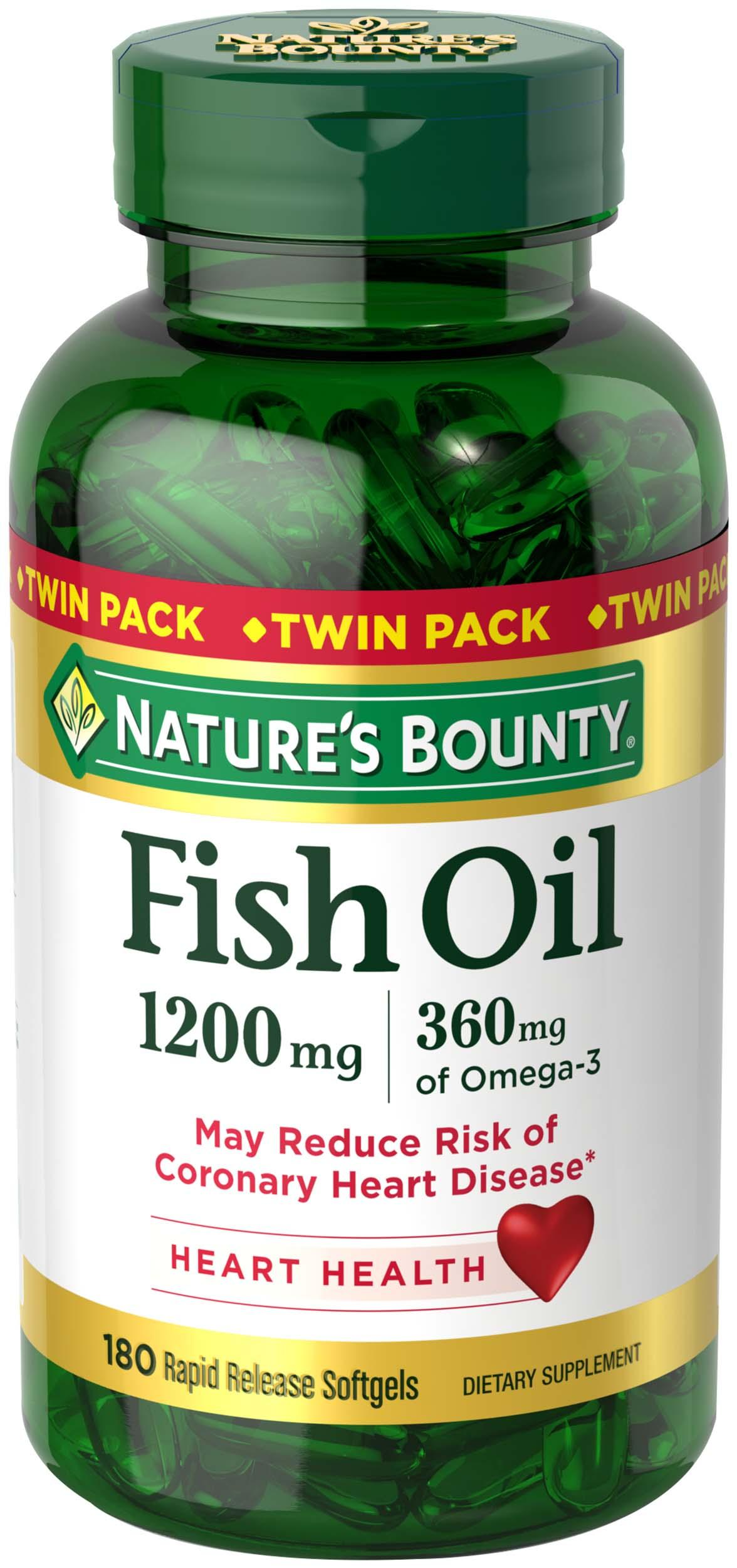 Nature 39 s bounty fish oil 1200 mg twin packs for Nature s bounty fish oil 1200 mg