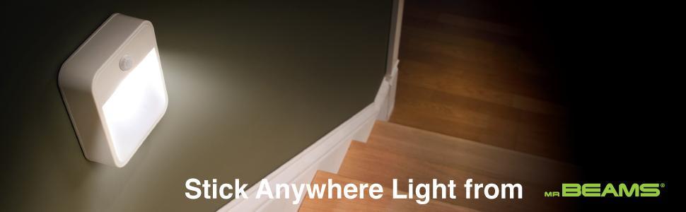 battery night light, stick anywhere lights, motion sensing night light, indoor motion sensor light