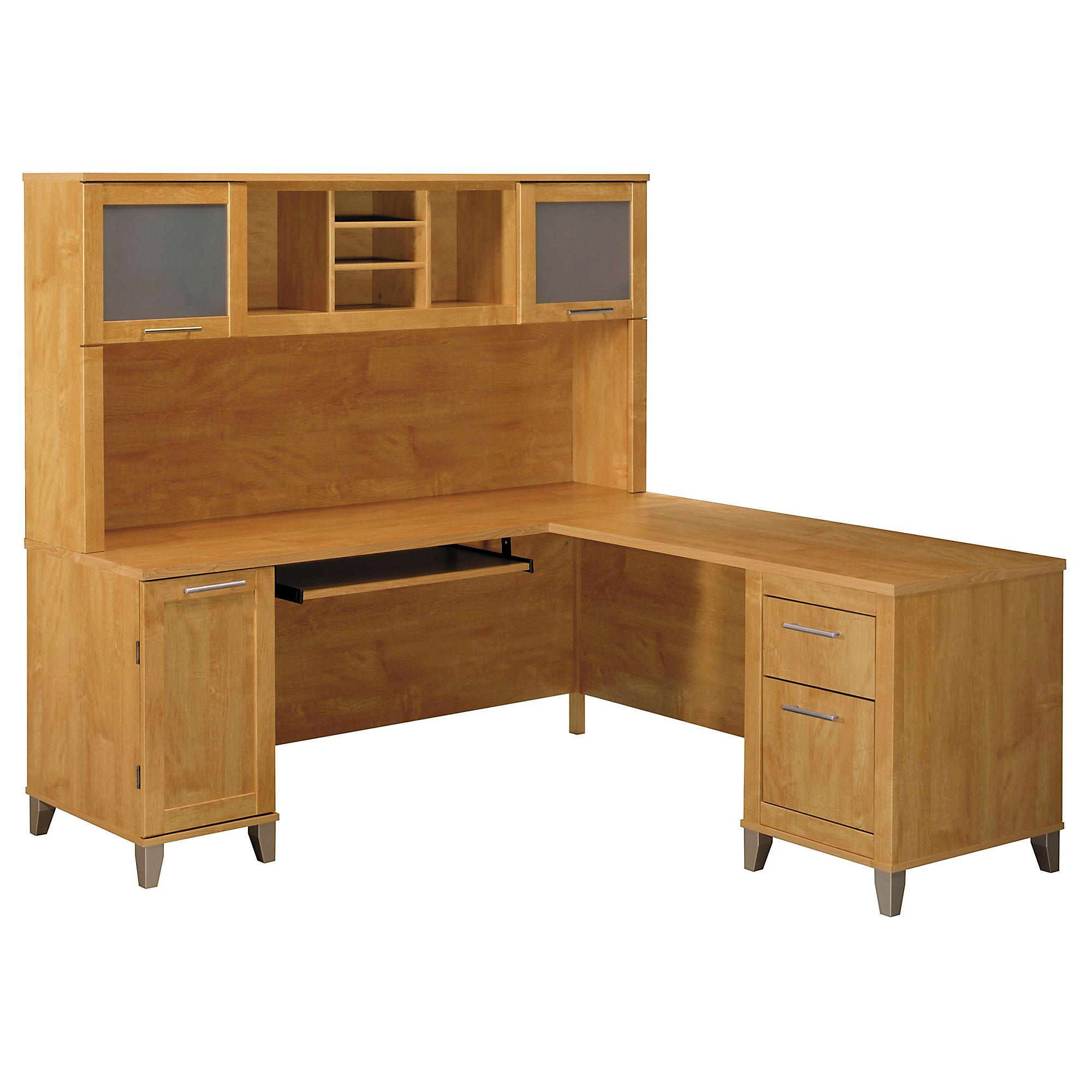 Somerset 71w L Shaped Desk With Hutch Kitchen
