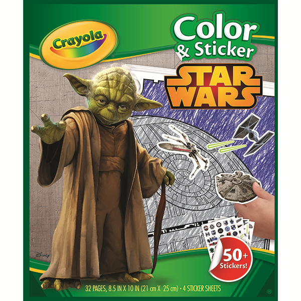 Amazon Com Crayola Star Wars Color Sticker Book Toys Games