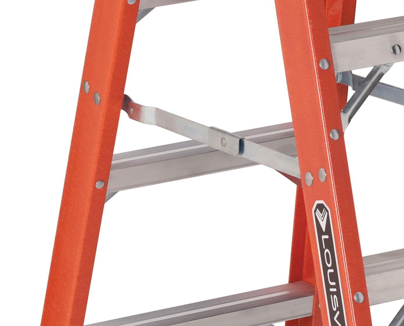 Louisville Ladder Fm1416hd Fiberglass Twin Front Ladder 16 Feet 375 Pound Duty