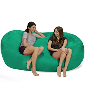 Incredible Chill Sack Bean Bag Chair Huge 7 5 Memory Foam Furniture Bag And Large Lounger Big Sofa With Soft Micro Fiber Cover Chocolate Unemploymentrelief Wooden Chair Designs For Living Room Unemploymentrelieforg