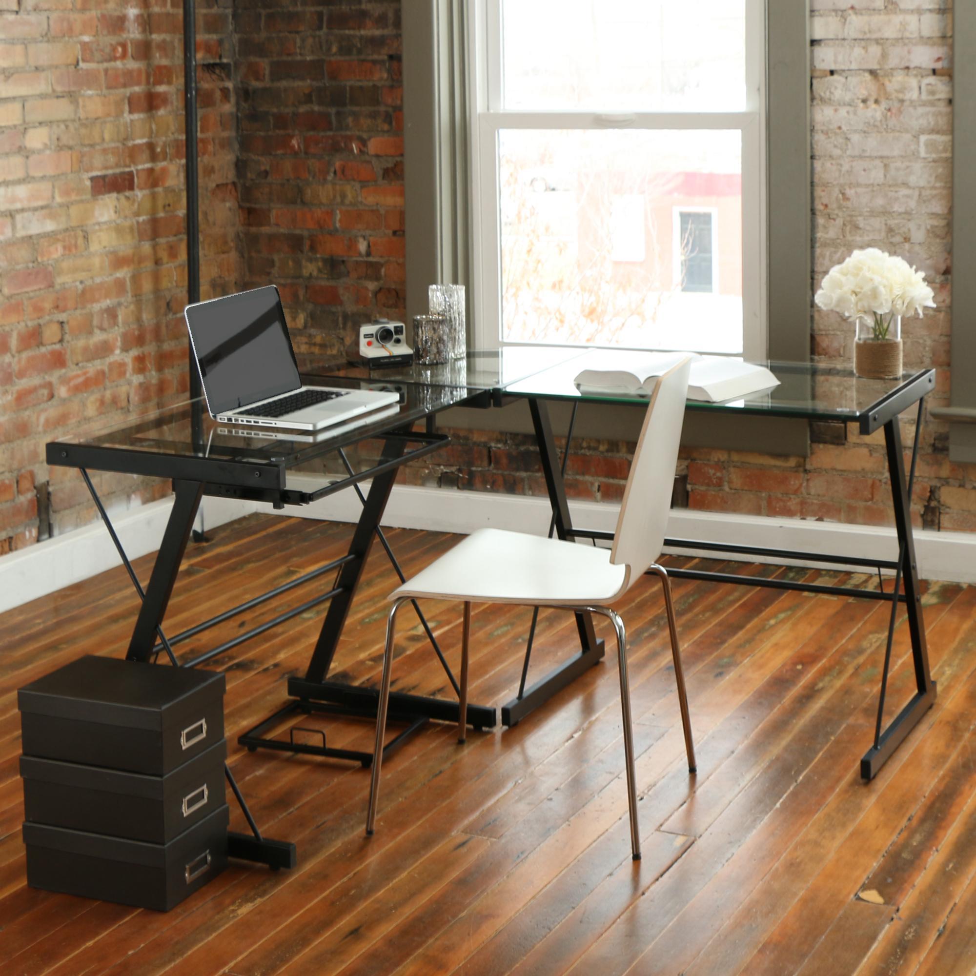 Amazon Com Walker Edison Furniture Company Modern Corner