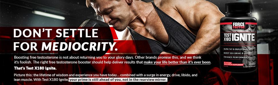 Amazon.com: Test X180 Ignite Free Testosterone Booster to Increase Sex Drive & Libido, Burn Fat