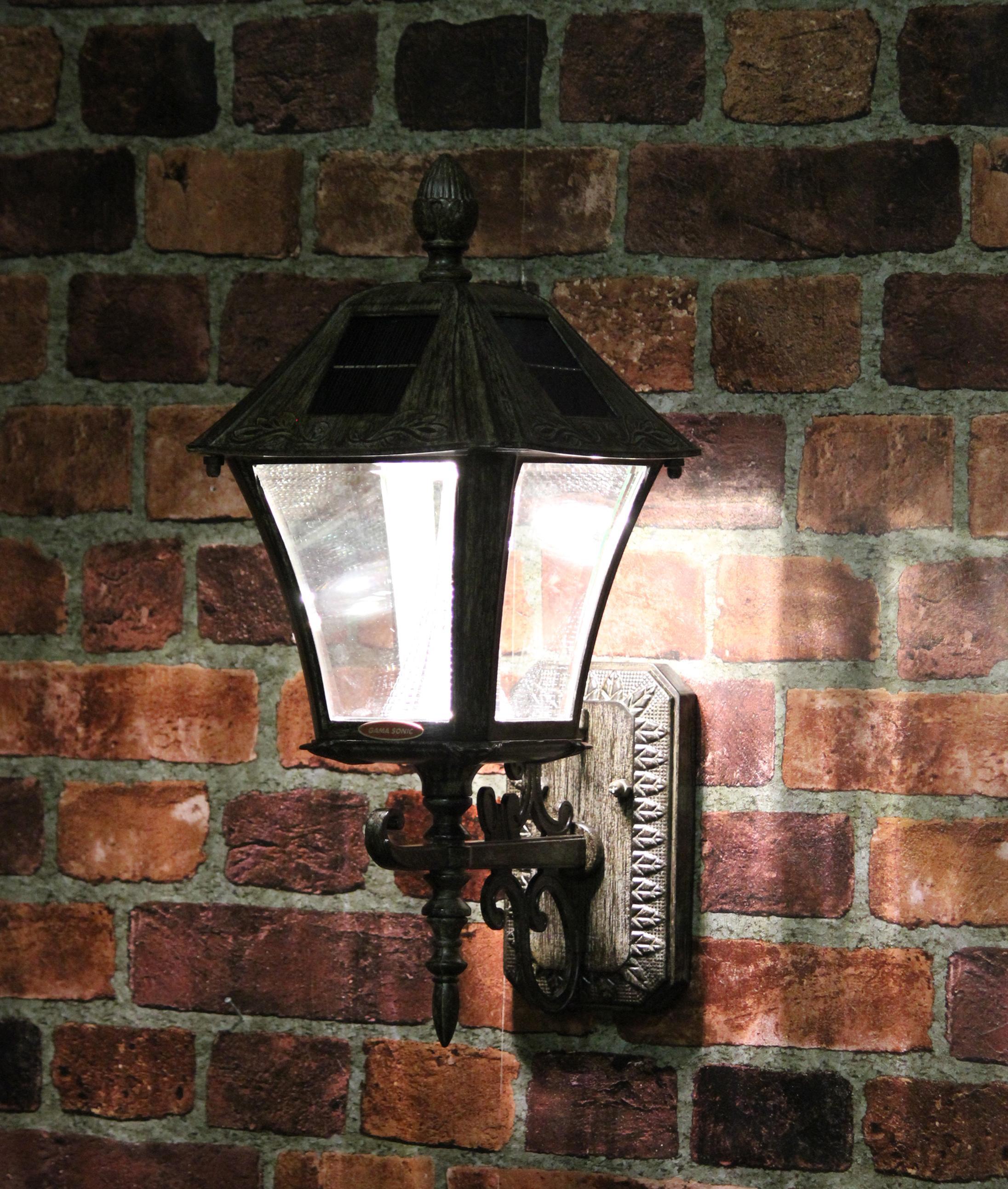 Amazon Com Gama Sonic Windsor Solar Outdoor Post Light: Amazon.com : Gama Sonic GS-106FPW-WB Baytown Lamp Outdoor