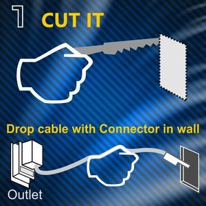 Amazon Com Powerbridge One Ck Recessed In Wall Cable
